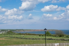 View from sea urchins cottage over to Filey and the Brigg