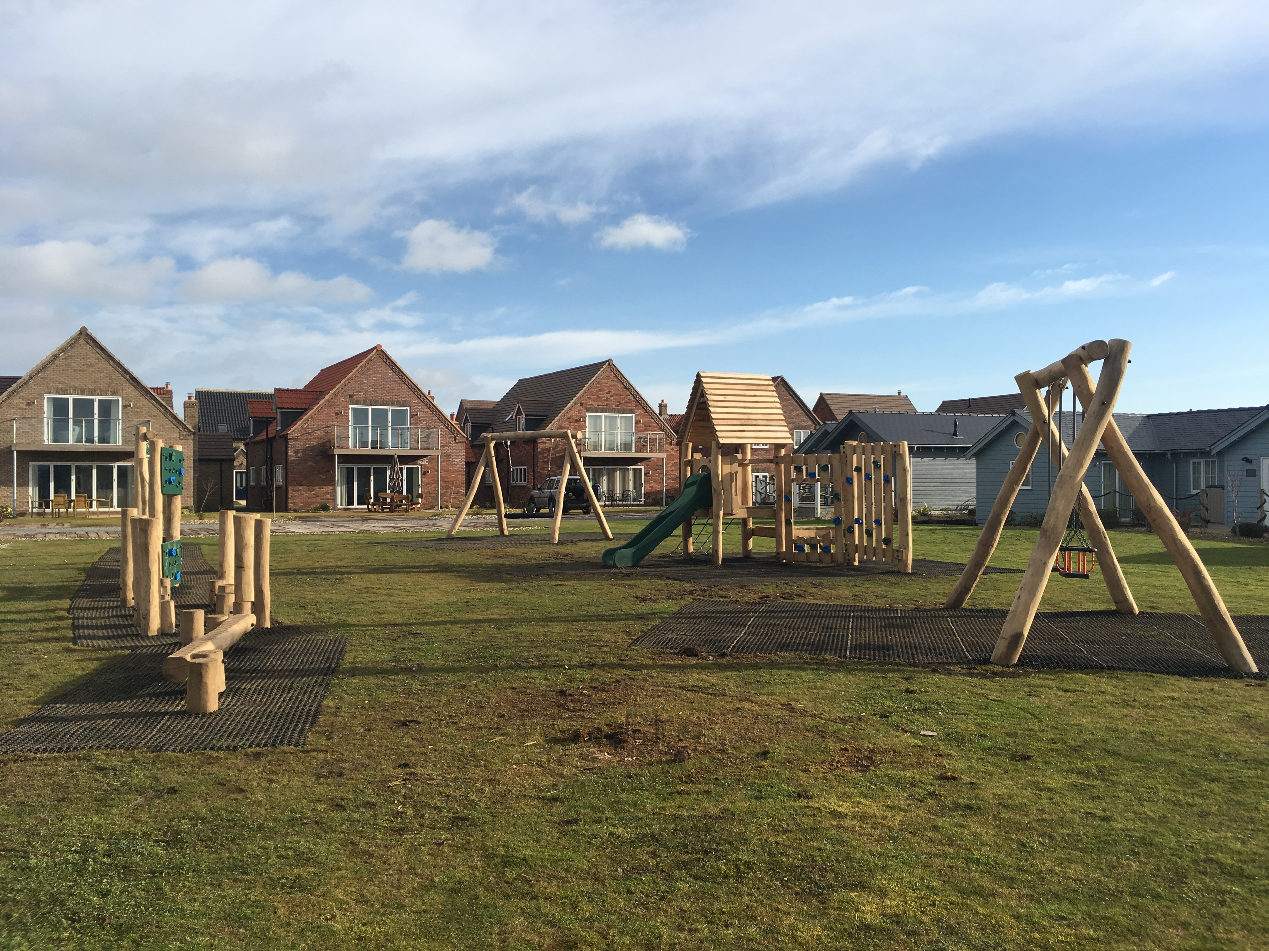 Both houses are close to the new childrens playground