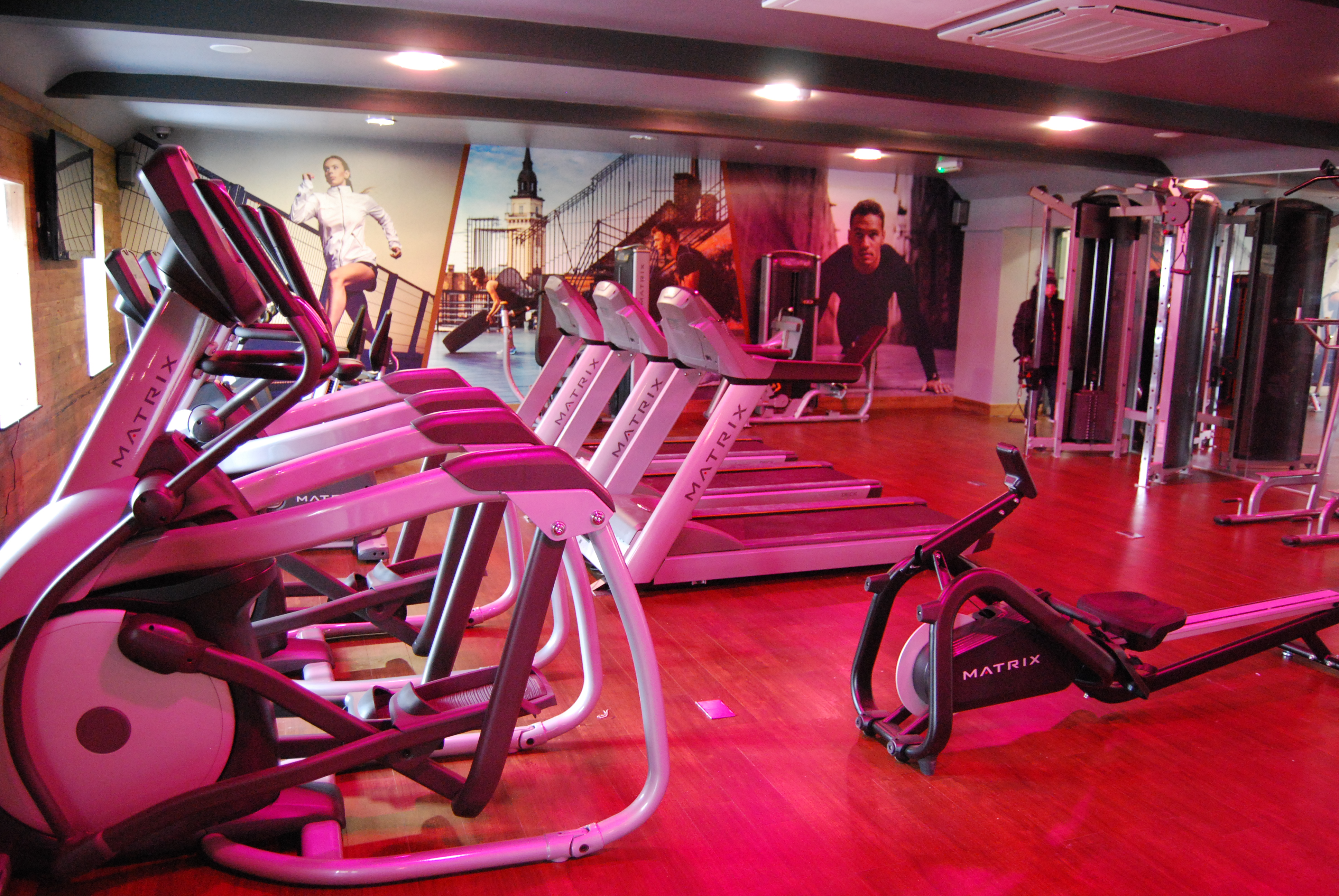 Guests have free use of the fitness suite